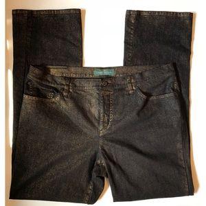 Lauren Jeans Co. Modern Straight Leg Jeans size 16